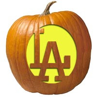Image result for Los Angelos dogers haloween pumpkin